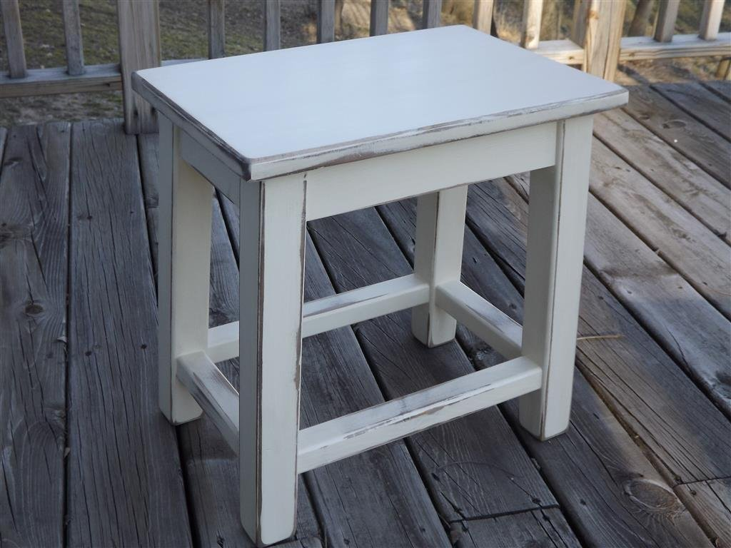 distressed white wood side table small end handmade tables plexiglass top rustic lamps ashley furniture naomi oval iron coffee light brown couch decor dark oak magnolia market