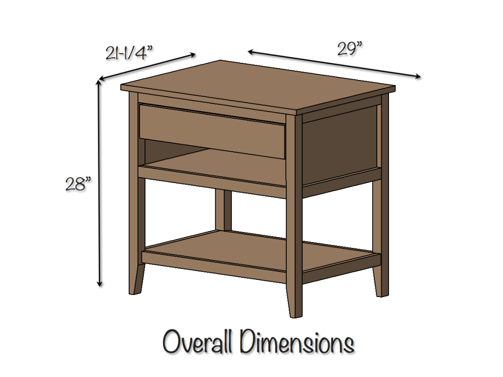 diy bedside table with drawer and shelf free plans dimensions end blueprints ashley furniture promotion metal glass nesting tables pottery barn cart coffee wood legs farrington