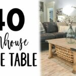 diy board farmhouse coffee table end nightstand plans sofa chair furniture row aurora stanley american modern bedroom galvanized pipe bar stools accent gold black and white 150x150