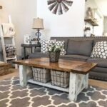 diy chunky farmhouse coffee table woodworking plans handmade end jofran side black and white leather chair cool night tables modern design with lots storage nightstand sauder 150x150