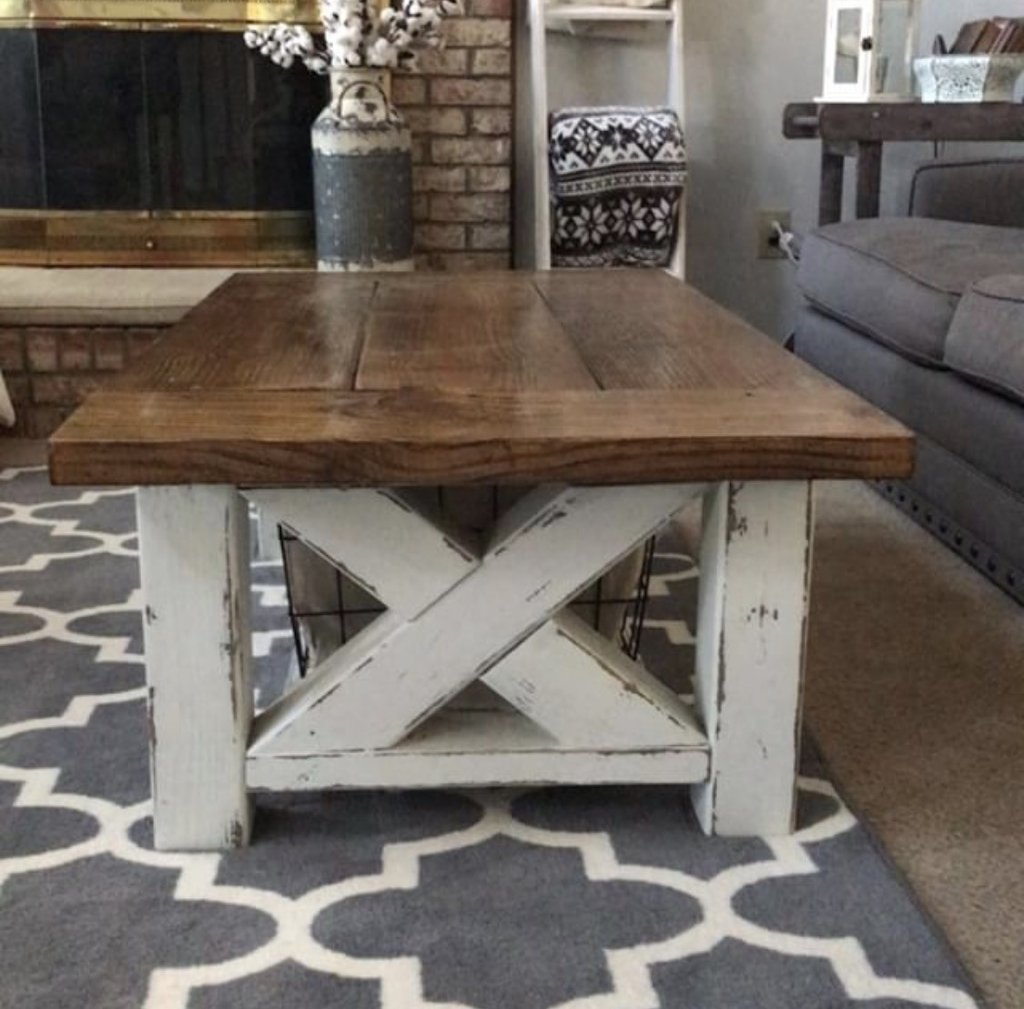 diy chunky farmhouse coffee table woodworking plans handmade fullsizerender end grit sand paper for distressing now its time you take these and make your own accent furniture