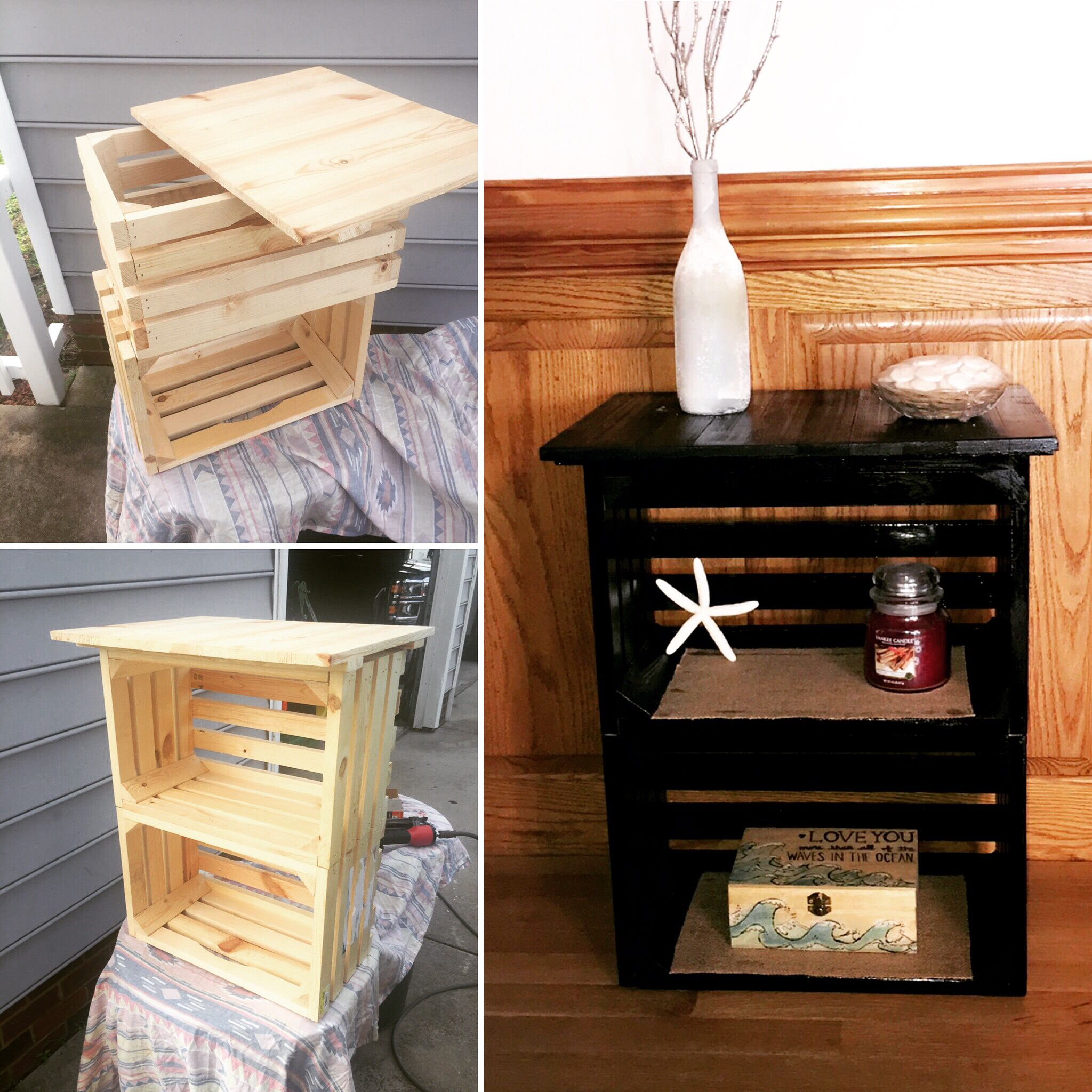 diy crate nightstand pallet craft ideas end table tips for rustic furniture large tall homesense north london garden bench coffee made with pipe legs dog cages inside house the