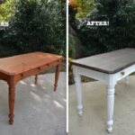 diy desk makeover using beyond paint and stain thrift painting end tables black diving dark couch living room ideas safavieh gold table chinese half moon vintage pulaski furniture 150x150