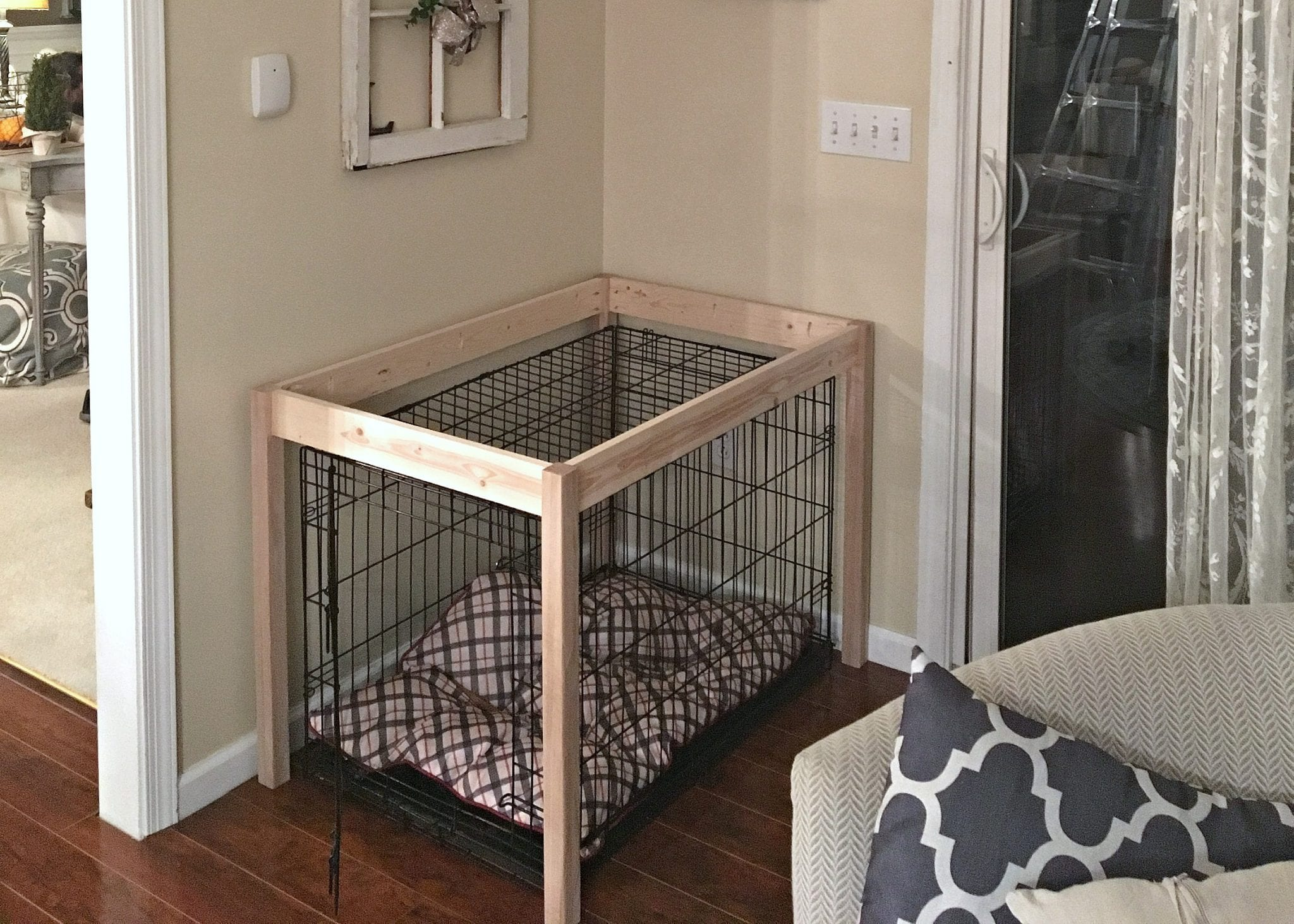 diy dog crate hack build snazzylittlethings end table plans french style armchair made from crates modern bedroom sets furniture set small out pallets enclosed tables magnussen