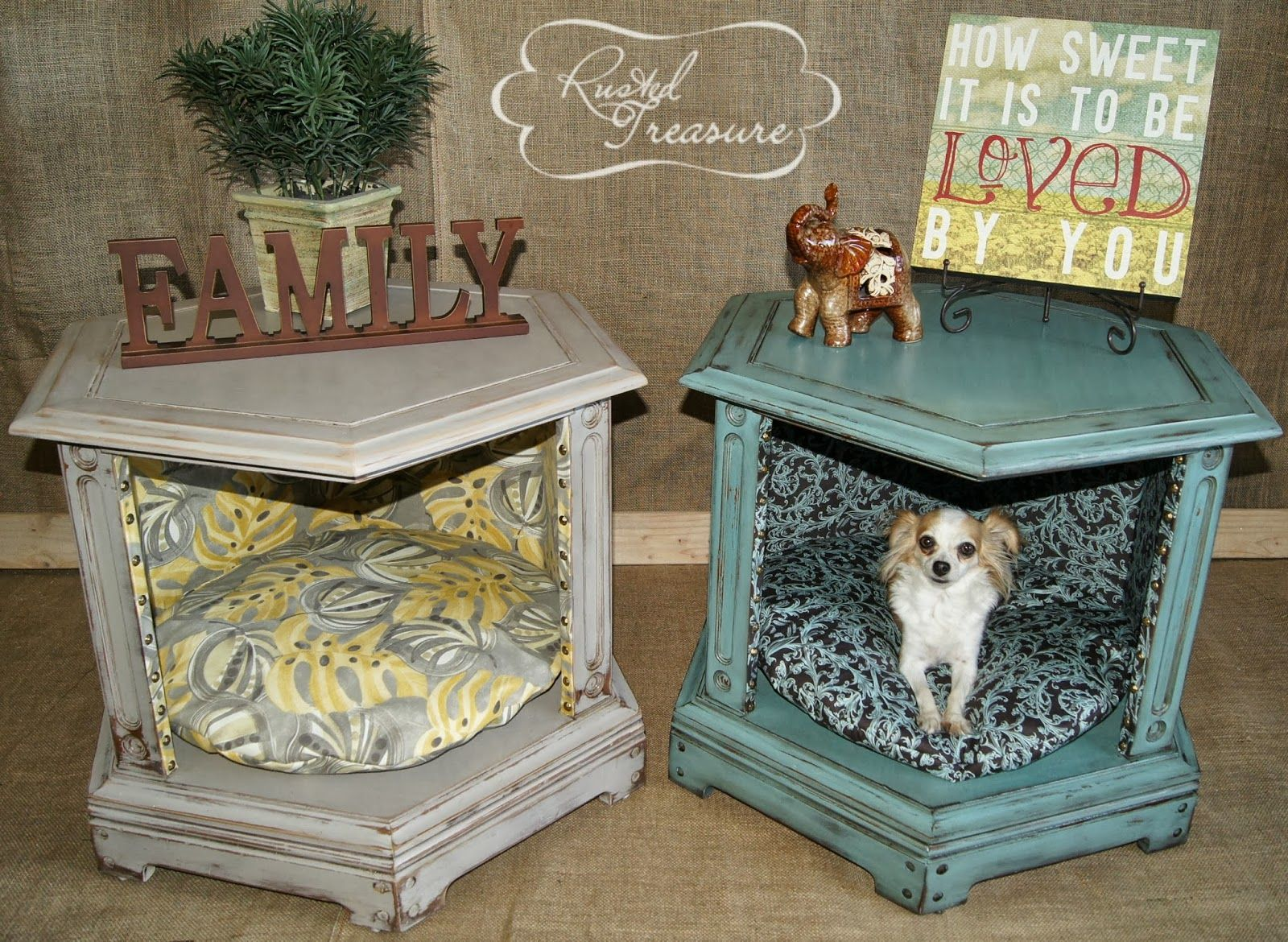 diy end table dog beds before and after create vignette pet seasonal family mementos inside have just the tables for this wall color that goes with dark brown furniture small