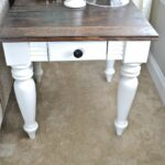 diy end table like the dark stain top with rest white wood painted small round pedestal dog crate furniture plans laura ashley home usa glass dinette tables broyhill mirror goods 150x150