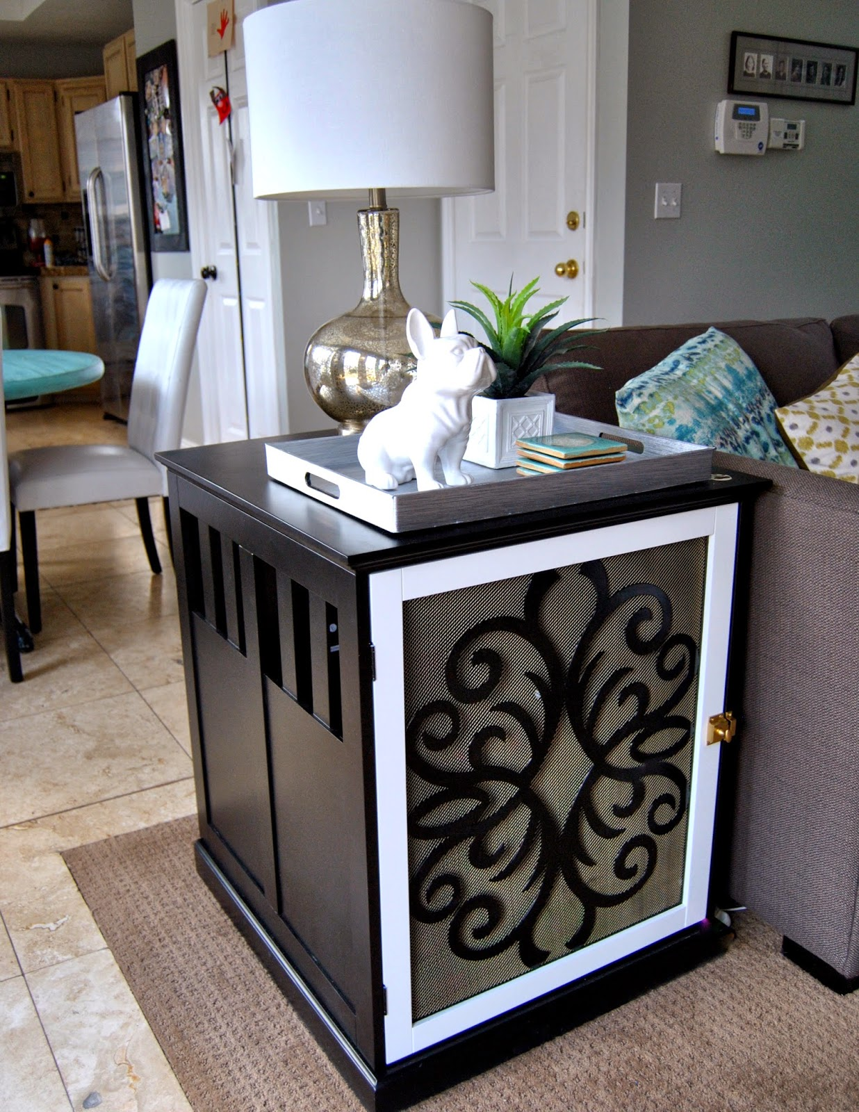 diy end tables that look stylish and unique dog crate side table oak coffee with glass top kennel designs gray wood white outdoor dining lakehurst wooden garden oval indoor house
