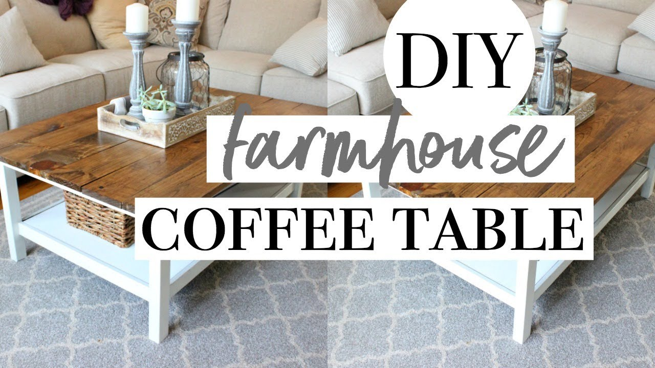 diy farmhouse coffee table easy ikea hack end home sense dresser macys glass lexington used furniture bedside shelf living room size nightstand plans row aurora stanley american
