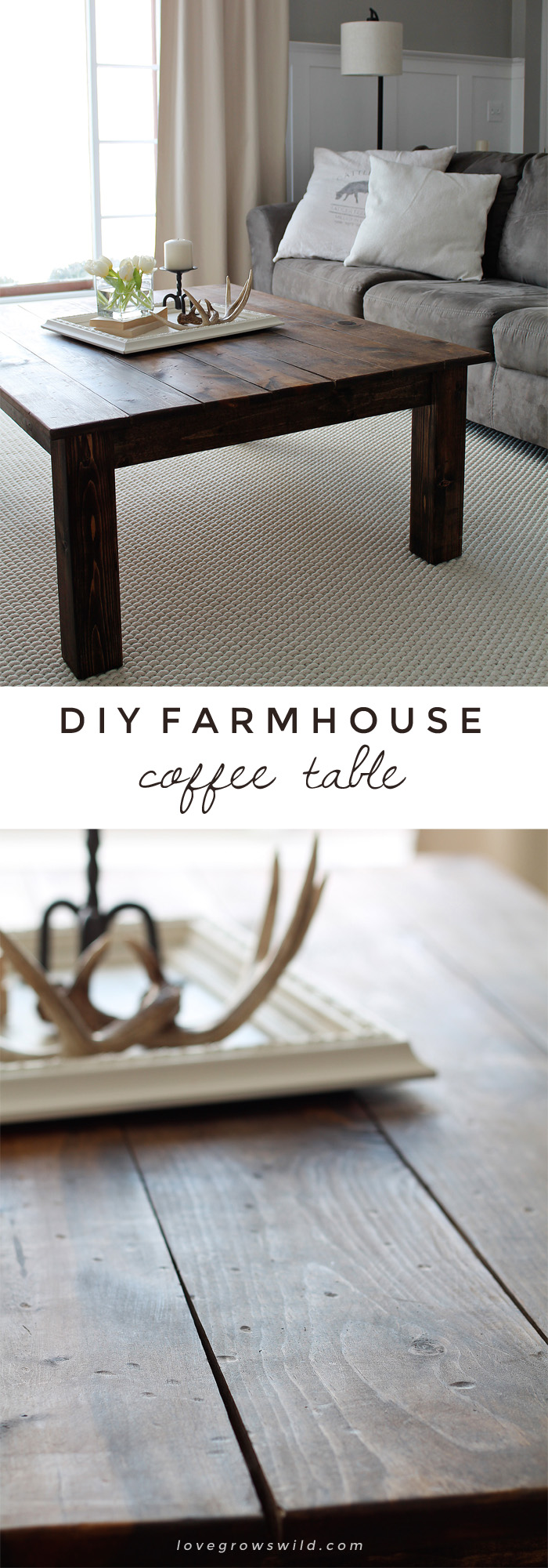diy farmhouse coffee table love grows wild pin end learn how build this rustic wood lovegrowswild click best for dining top nightstand plans industrial side plastic night oval