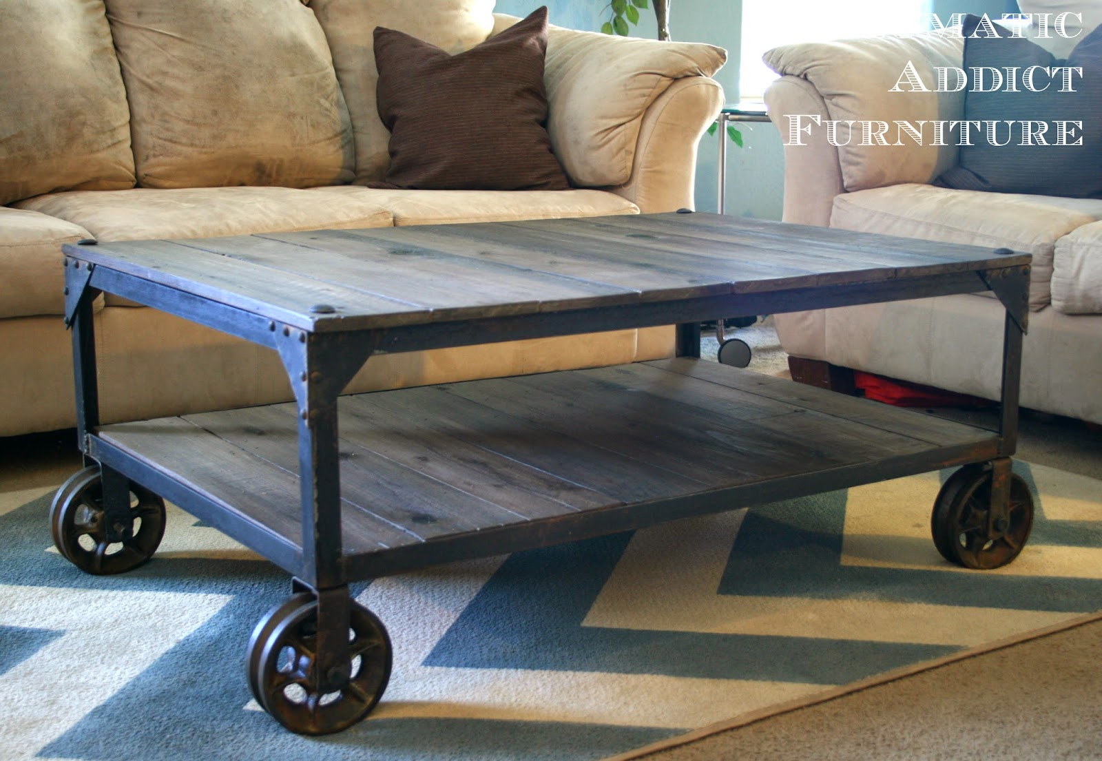 diy industrial decor ideas pneumatic addict coffee table end cool kitchen tables plexiglass brown leather sofa living room broyhill outdoor unfinished wood furniture whole nest
