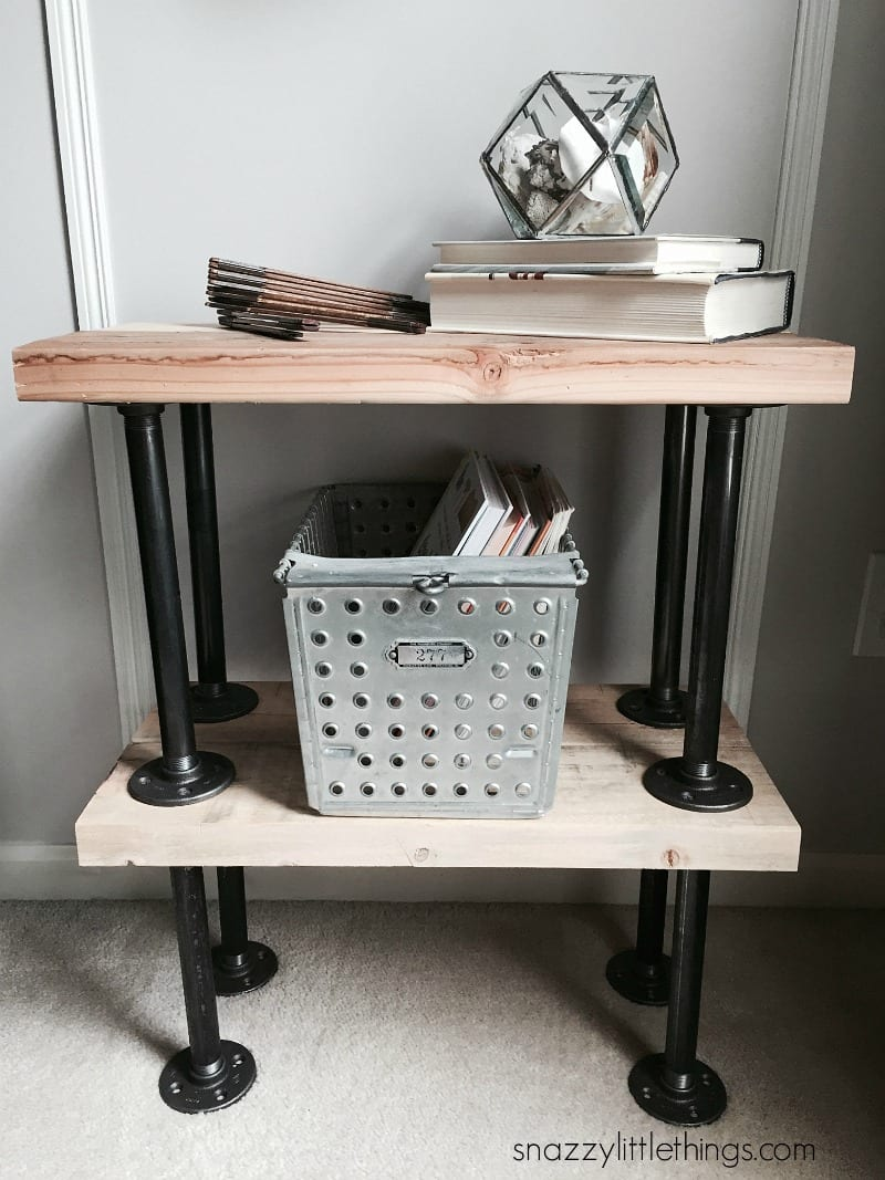 diy industrial plumbers pipe end tables family room reveal table metal top dog kennel furniture plans coffee plexiglass brown outdoor kmart coupons lawn and garden riverside