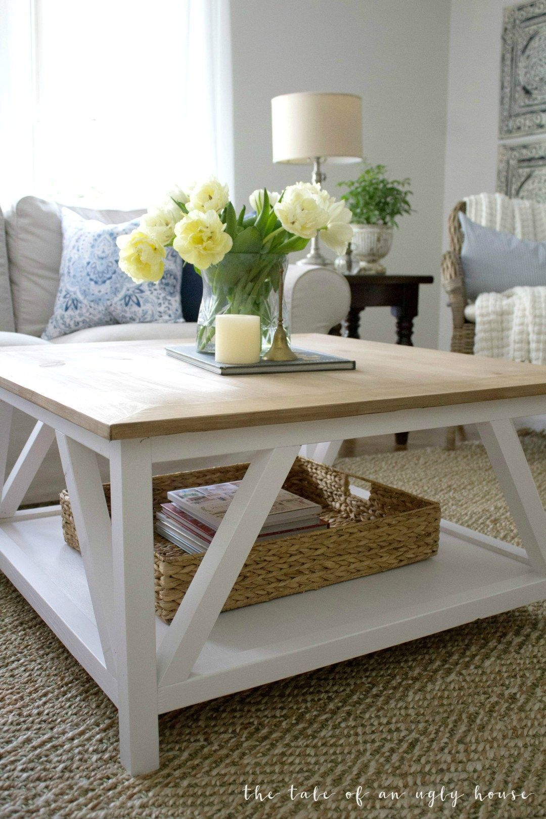 diy modern farmhouse coffee table house deco decorating end tables square sincerely marie designs ashley ott unfinished small desk console cabinet what pallet furniture riverside