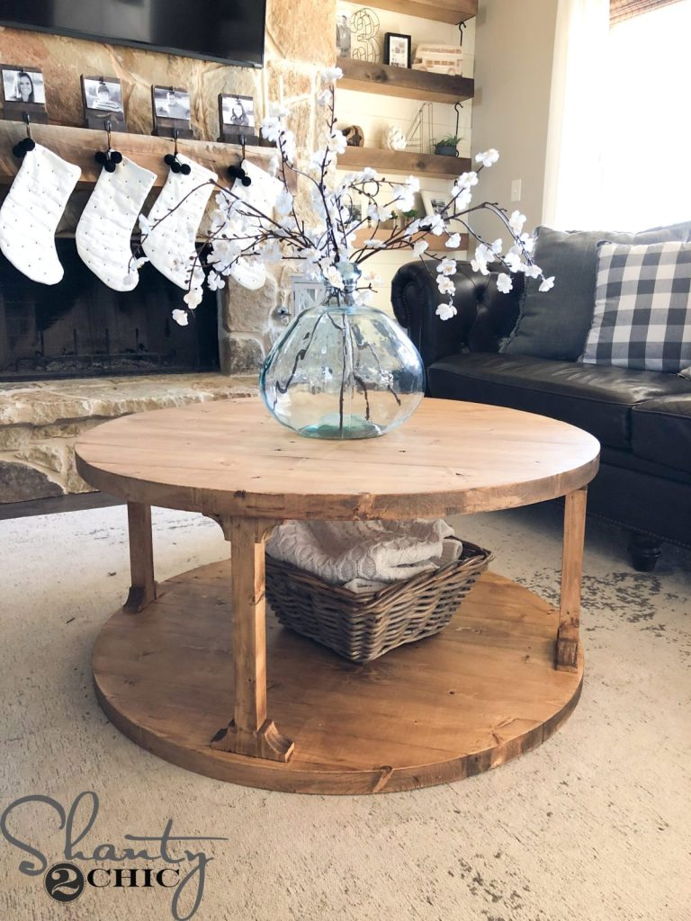 diy round coffee table shanty chic free plans end furniture america carline modern espresso craigslist western mass desk and floor lamps tables small indoor dog kennels black pipe