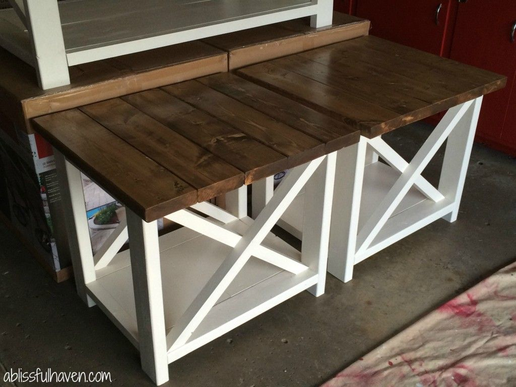 diy rustic end tables the perfect addition your house table side chinese foot sofa narrow console with storage distressed white paint kmart lawn and garden clearance leons