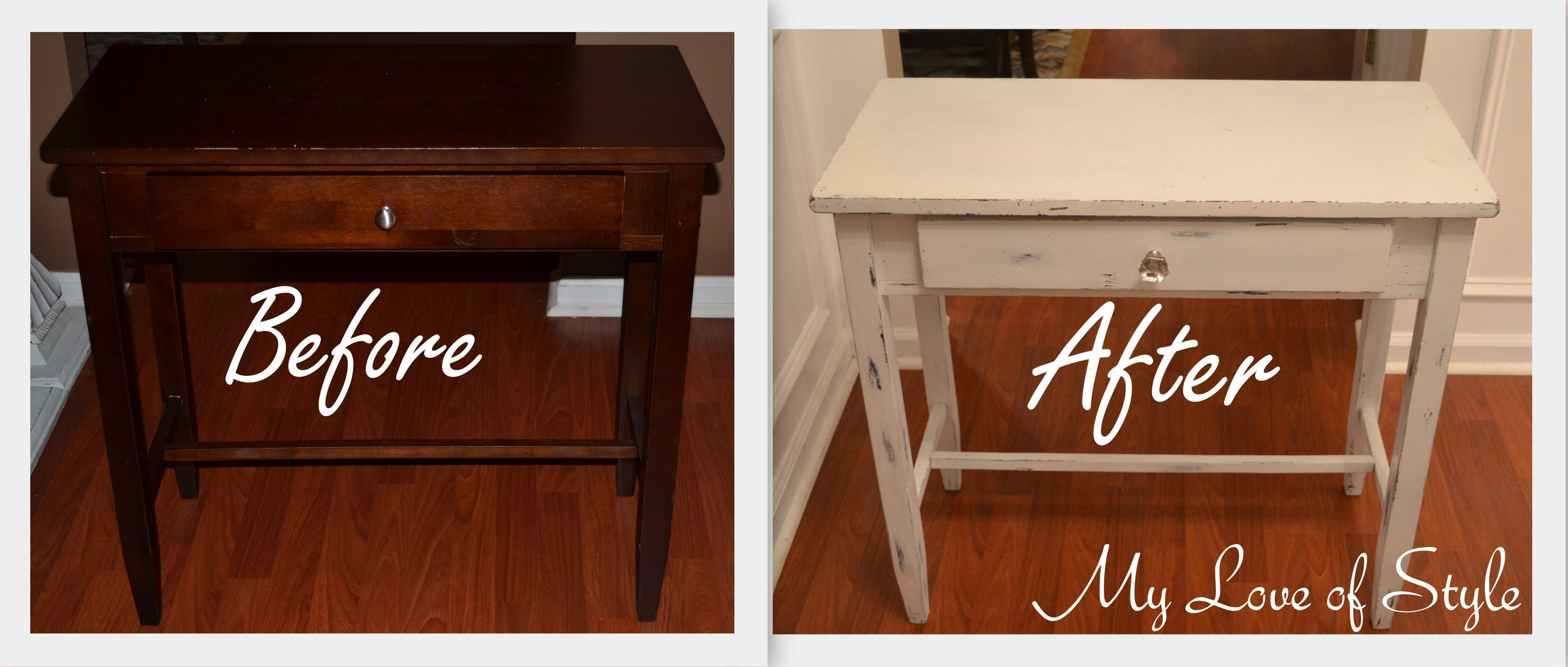 diy shabby chic table distressing tutorial love style before and after distressed end tables luxury mahogany pet residence dog crate universal furniture blair ethan allen preston