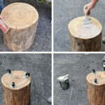 diy tree stump side table end tables made from logs pallet coffee instructions wooden lamp kmart inch sofa faux marble piece and set metal floor big lots kids slim grey bedside 150x150