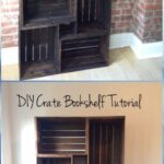 diy wood crate furniture ideas projects instructions diyhowto end table bookshelf apothecary coffee made with pipe legs sofa shelves unfinished bar the ashley target garden bench 150x150