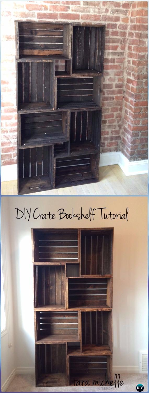 diy wood crate furniture ideas projects instructions diyhowto end table bookshelf apothecary coffee made with pipe legs sofa shelves unfinished bar the ashley target garden bench