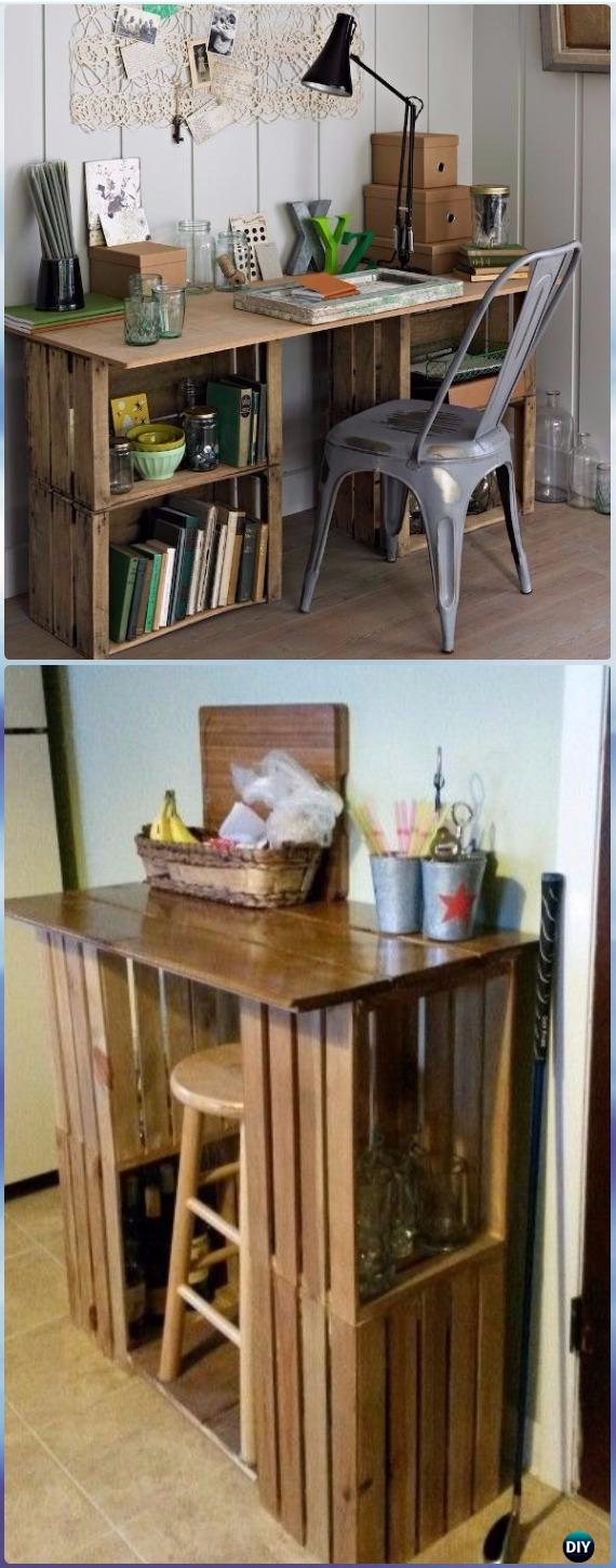 diy wood crate furniture ideas projects instructions diyhowto end table office canadian made laura ashley sofa rustic log dining the garden bench unfinished room with shelves
