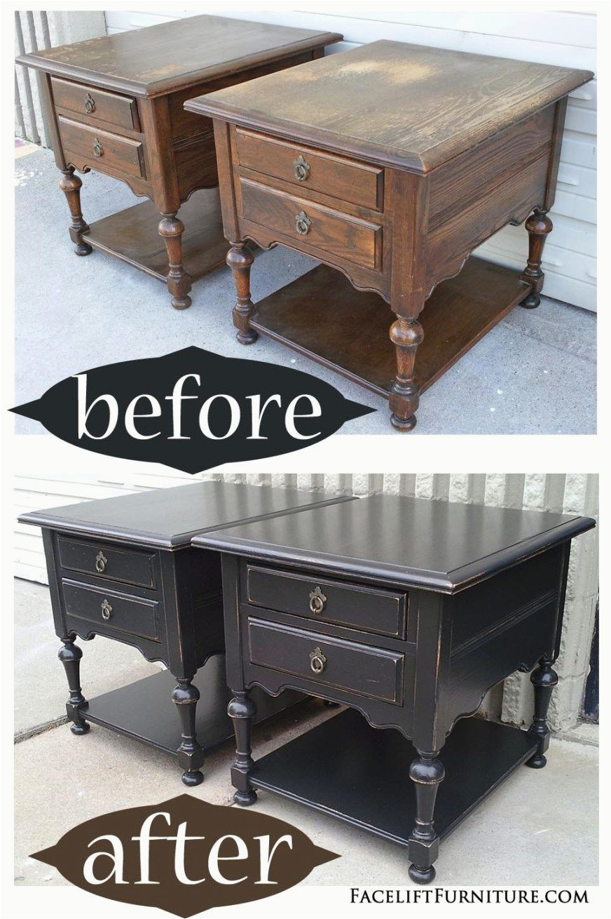 diy wooden coffee table makeover oak end tables distressed black before amp after ashley furniture rafferty collection ethan allen preston cookie letter stamp tall narrow sofa