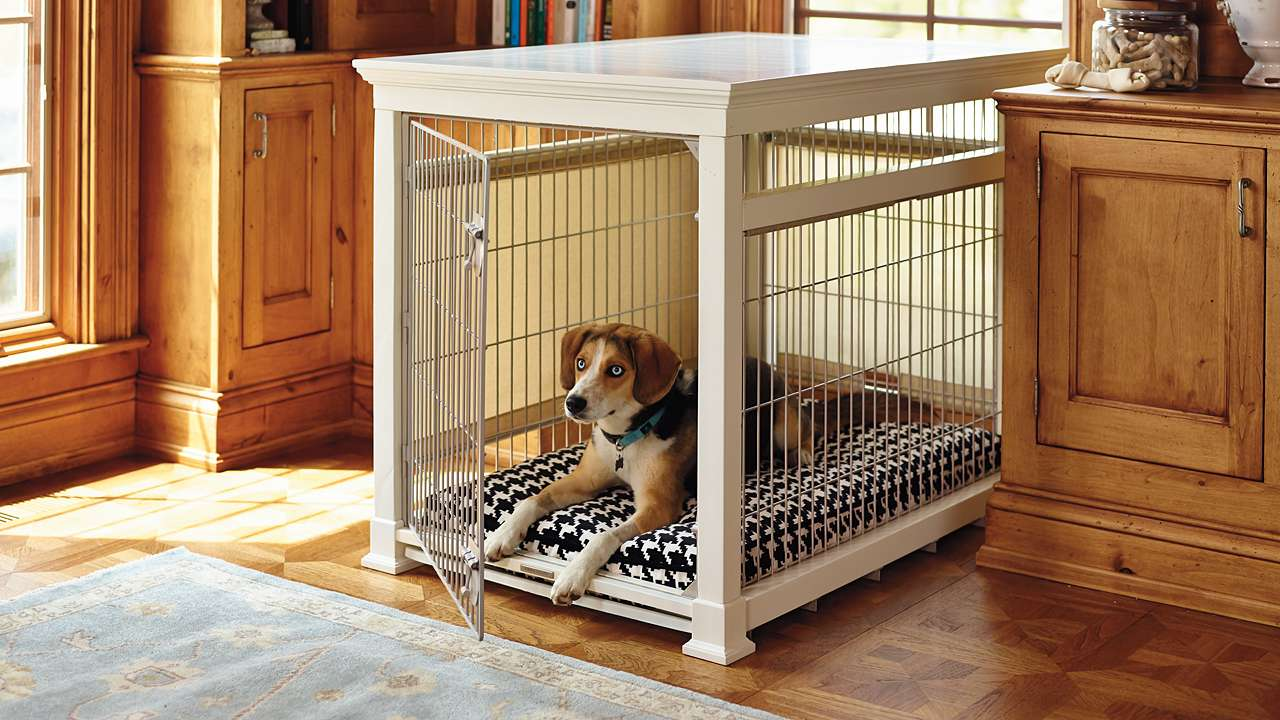 dog crate end table small tuckr box decors making fire pit and chairs set solid wood contemporary coffee overly ashley furniture xenia black marble top tables tan leather sofa