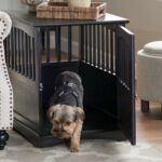dog crate kennel cage night stand end table wood large furniture cave house room size black pet supplies refinish side barn style coffee sofa decorating ideas navy bedside simple 150x150