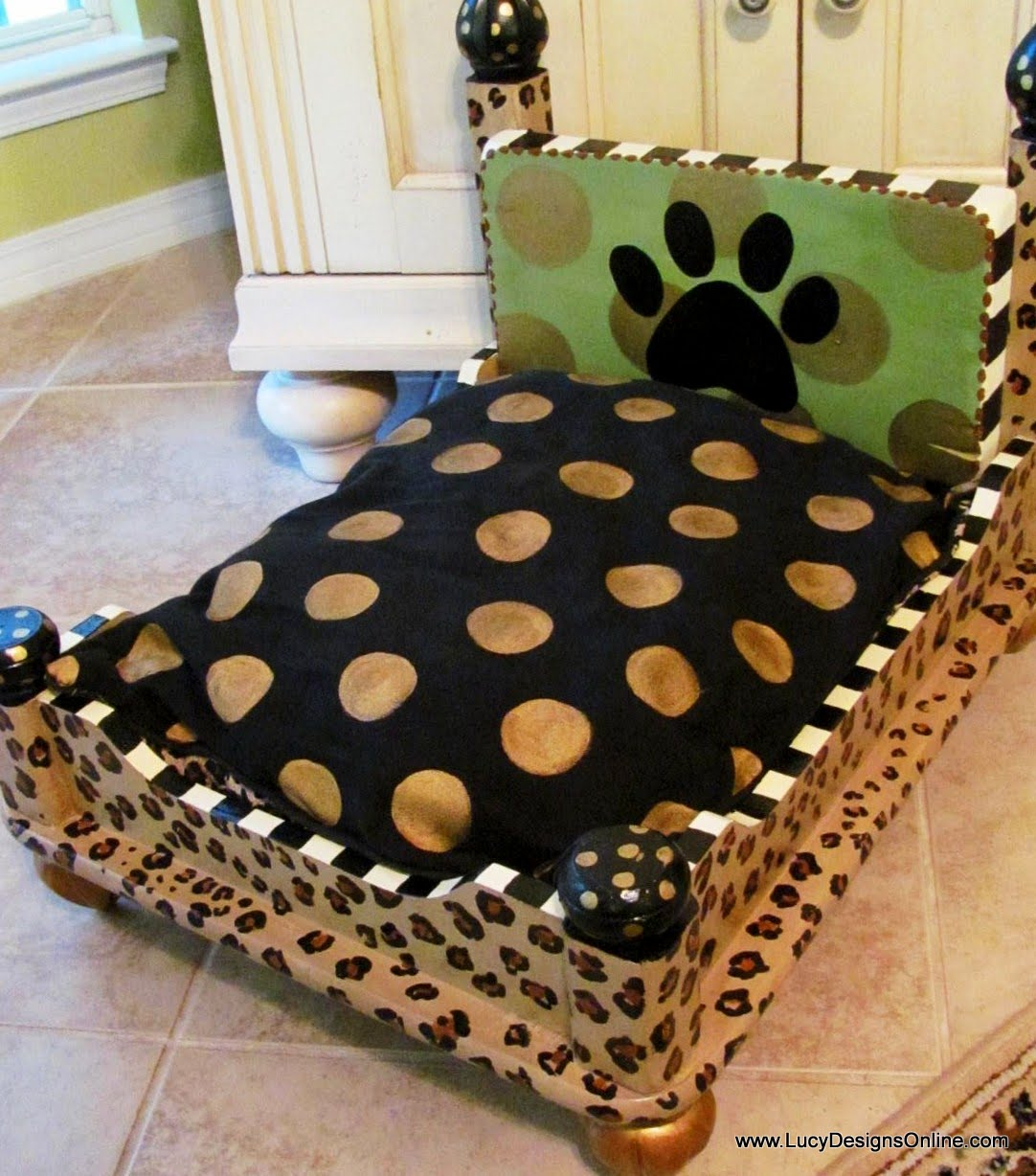 dog from end table leopard print lucy designs made just finished another sauder shoal creek bedroom furniture dining room montreal colorful outdoor side tables universal charlotte