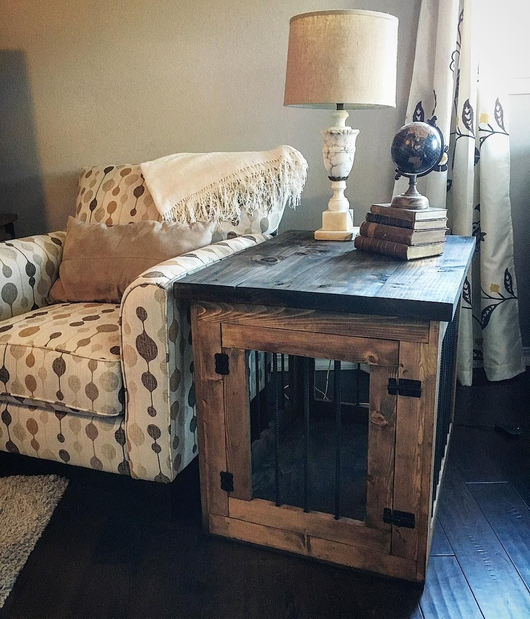 dog furnishing ideas diy end table kennel furniture crate magnolia home lamps for mirrored nightstands distressed gray weathered open cube modern acrylic coffee outdoor fans round