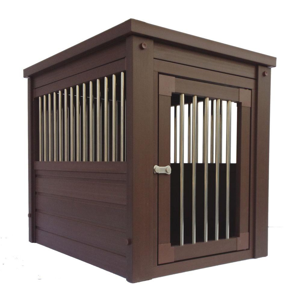 dog kennel end table medium habitat home pet crate metal spindles new age crates pads large wood desk unfinished maple furniture stanley american view essex cove ashley gavelston