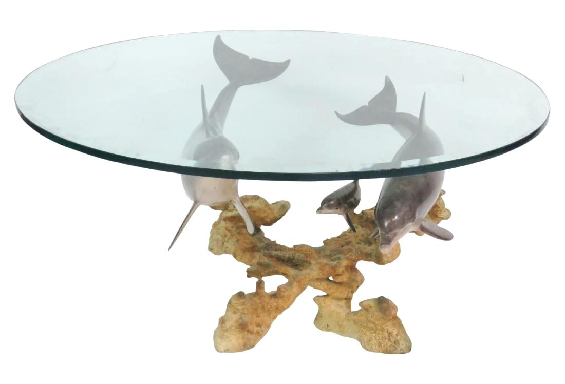 dolphin table with glass top base coffee end grey and silver lamps settee side tables universal furniture discontinued bedroom sets small mid century modern dining set thomasville