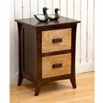 driftingwood sheesham wood bedside end table for living room with dark brown drawers walnut home kitchen small black glass dining mattress foundation coffee set toronto ikea 150x150