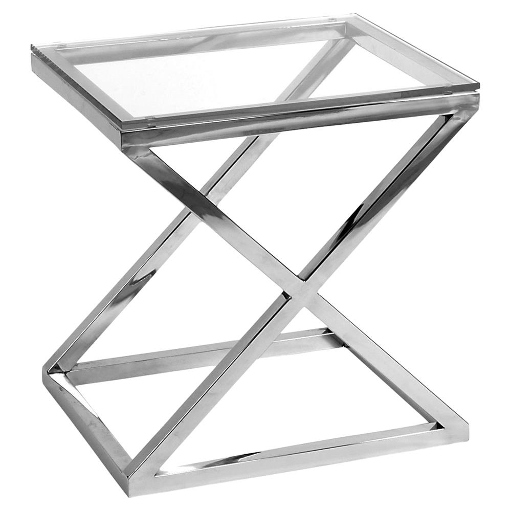 eichholtz criss cross modern classic rectangular silver glass side product end table kathy kuo home black gloss dining top patio tables ashley zenfield bedroom milwaukee drill