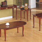 elegant cherry wood coffee table set end tables and with slide out tray universal furniture armoire lamps pine grain teal second hand console glass laura ashley used armchairs 150x150