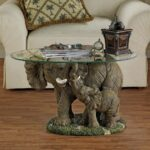 elephant decor house and home table glass top coffee side with tables elephants are astounding creatures the african considered largest land animal world dockside furniture ethan 150x150
