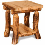 elkhorn amish end table rustic log furniture cabinfield tables fine target chair covers thomasville elysee bedroom green egg resin recliner sofa decorating ideas extra long 150x150