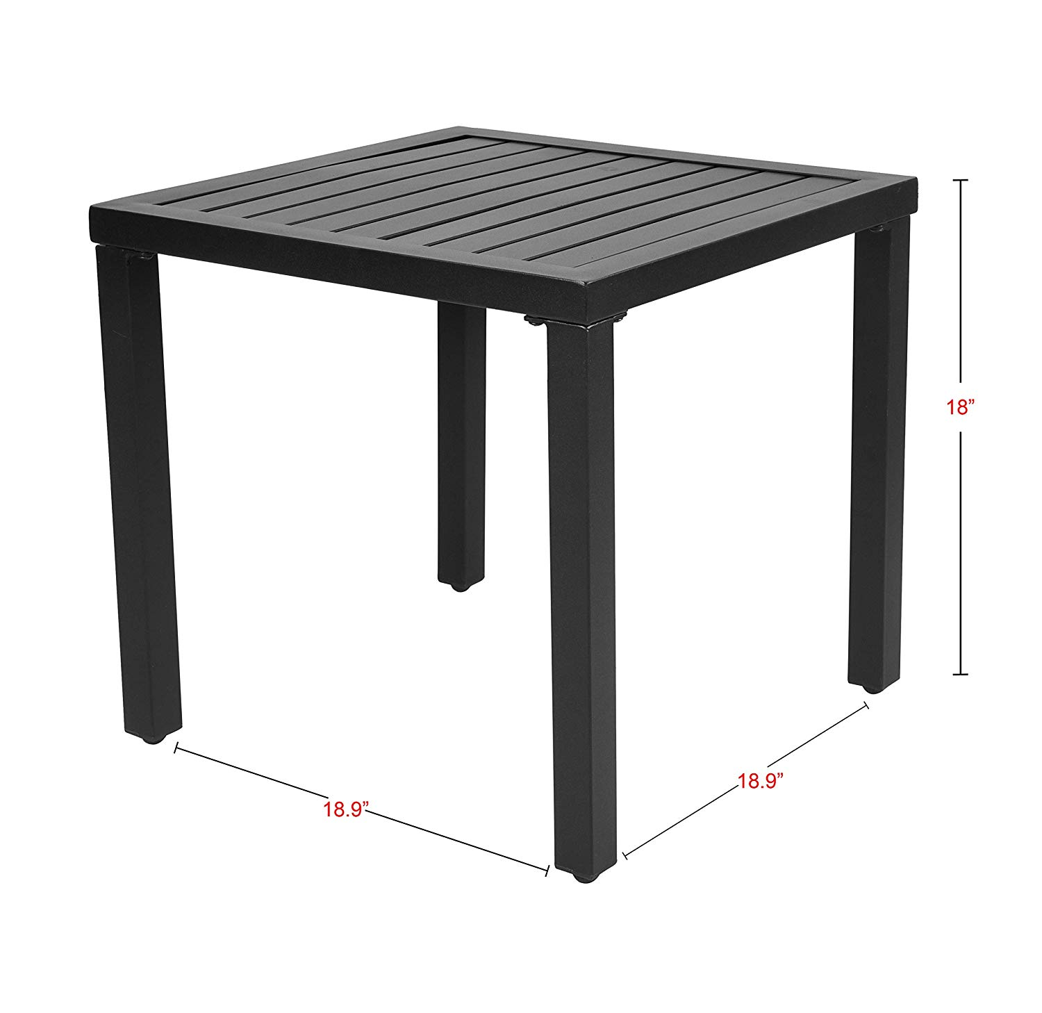 emerit outdoor metal square patio bistro side end table furniture tables black garden living room lights craftsman style pull out coffee rustic all glass round dining very