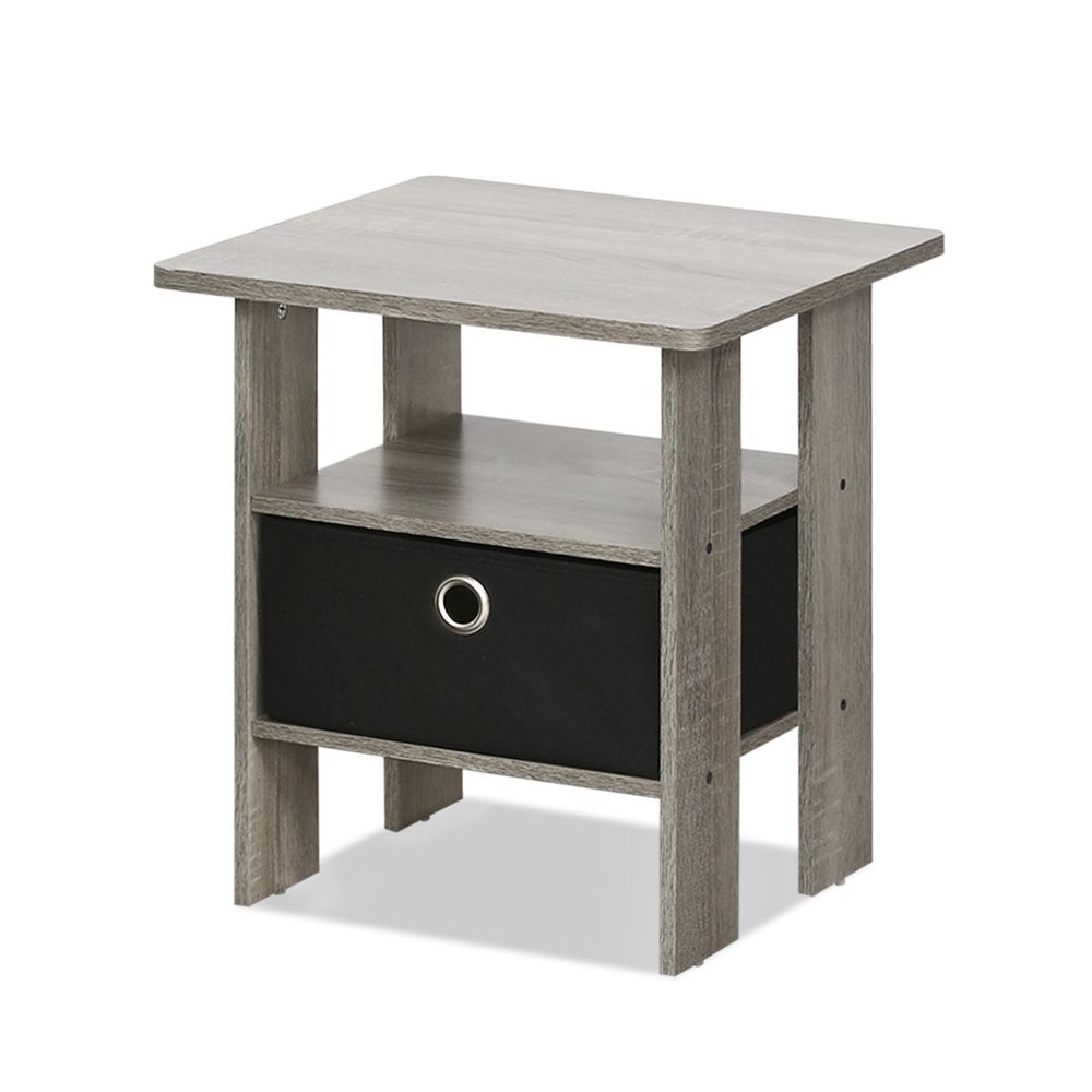 end table bedroom night stand bin drawer french oak grey black tables details about small sauder computer furniture metal pipe universal ltd taiwan man cave royal layaway rustic