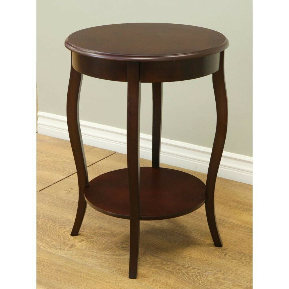 end table furniture wooden espresso accent living room decor bedside round details about desk ideas for small space modern industrial side lazy boy chair warranty black and white
