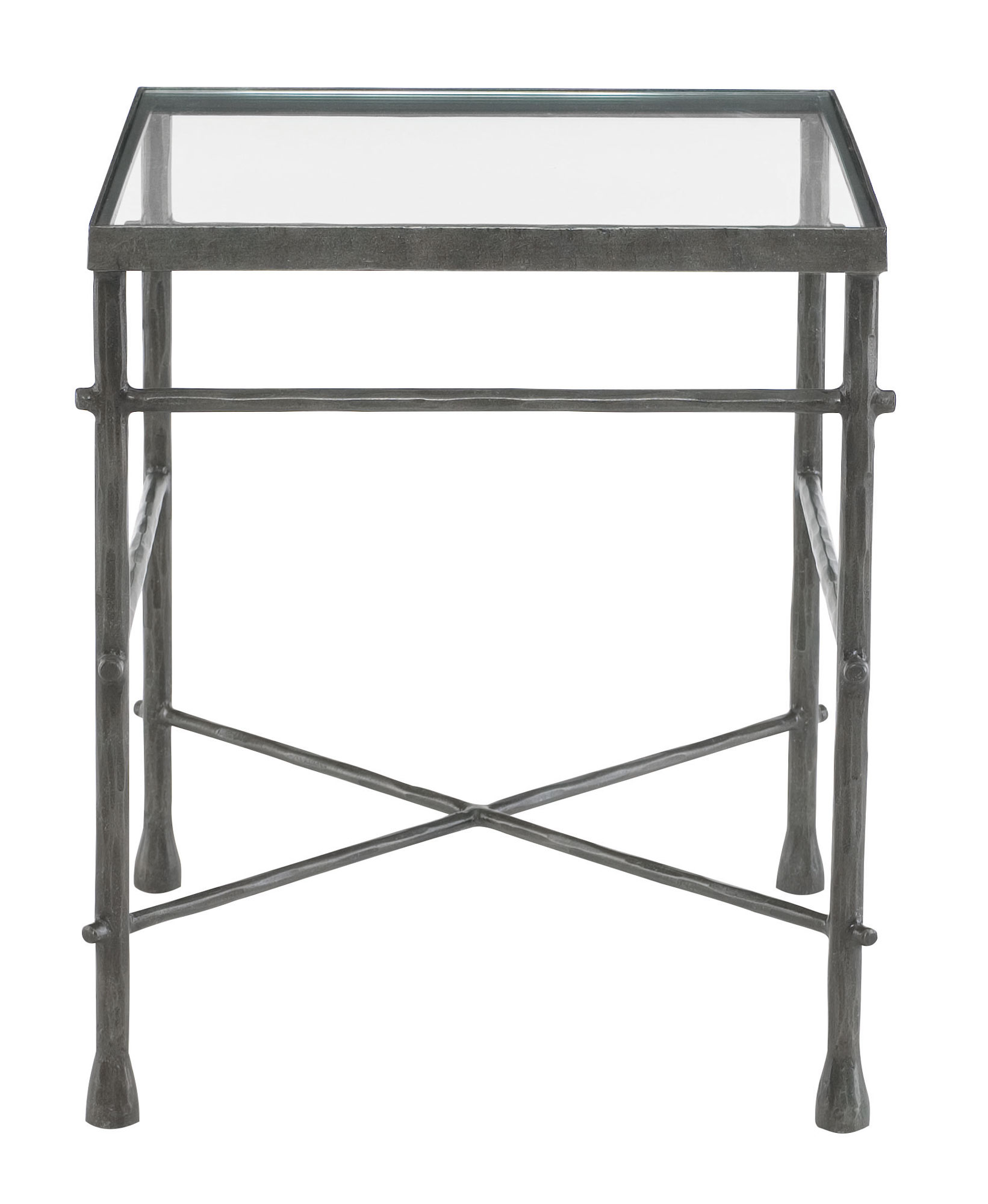 end table glass top and metal base bernhardt black with home decor floor lamps rafferty brown rustic french country coffee accent inc fixer upper couch for drawing room west elm