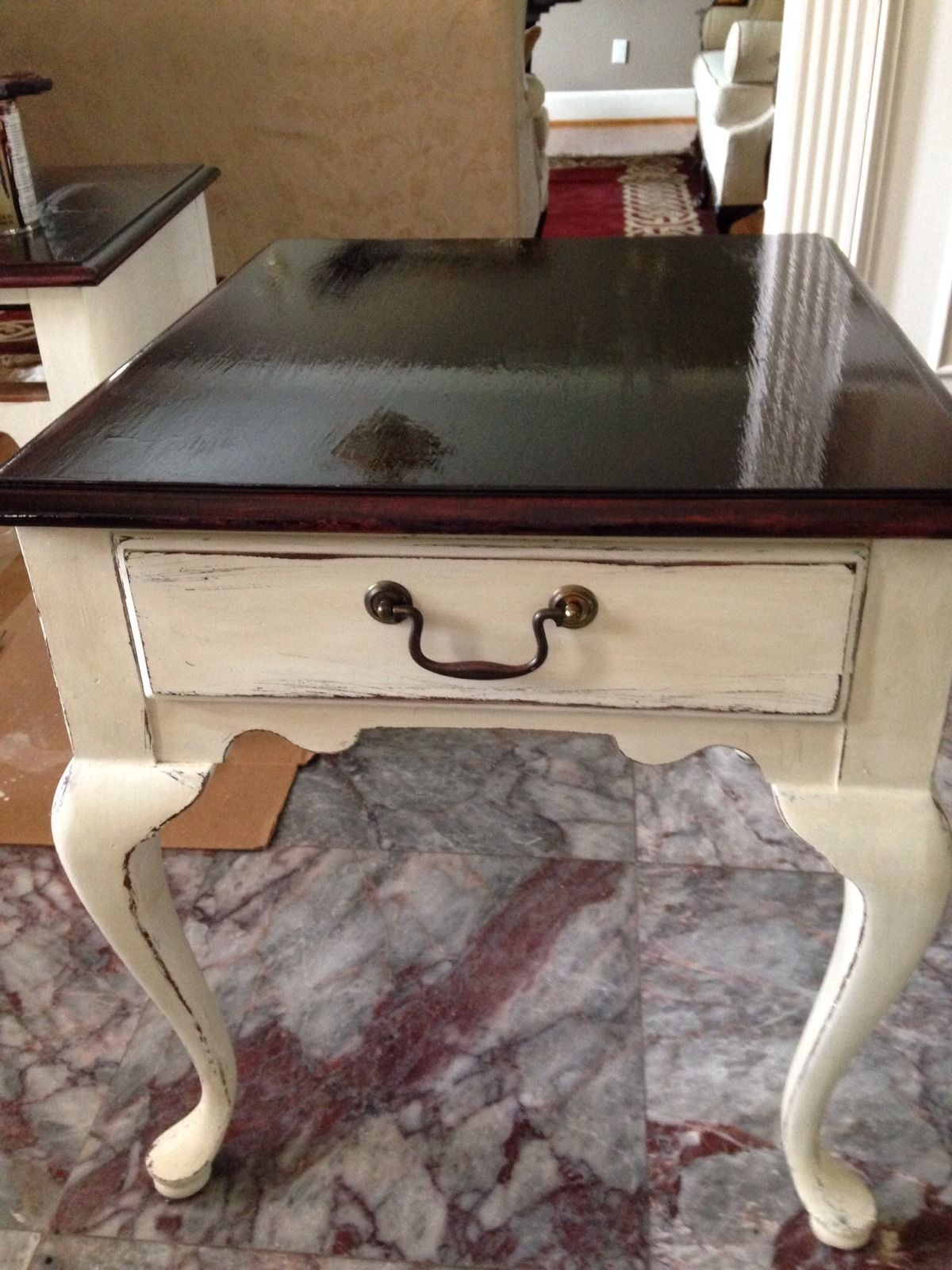 end table painted with annie sloan chalk paint and top miniwax stain diy tables dragon area rugs riverside medley collection chest type coffee small tall side lamp shade works