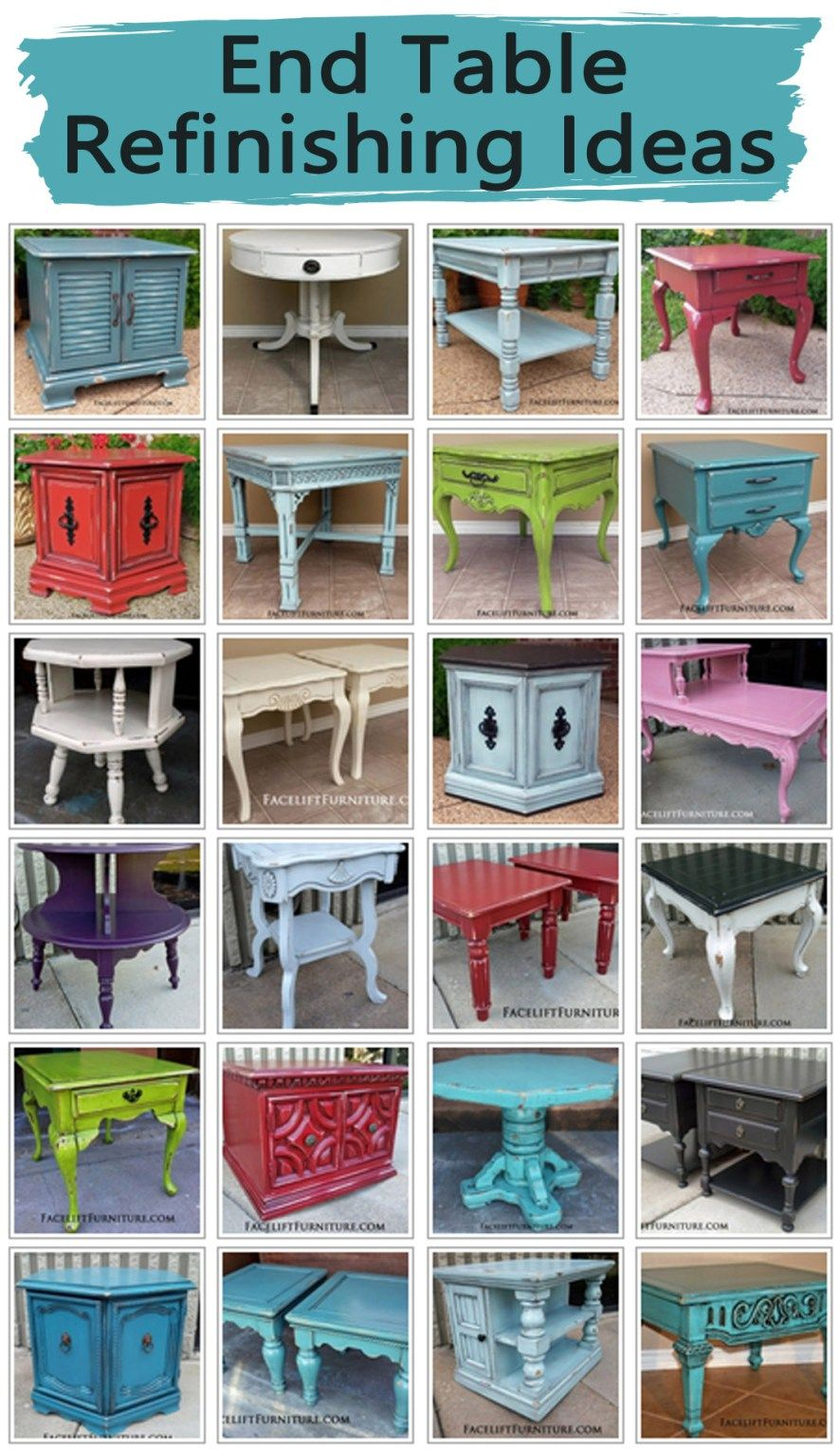 end table refinishing ideas furniture distressed painting tables are great way introduce the upstyled look painted glazed and into your home learn more from facelift long narrow