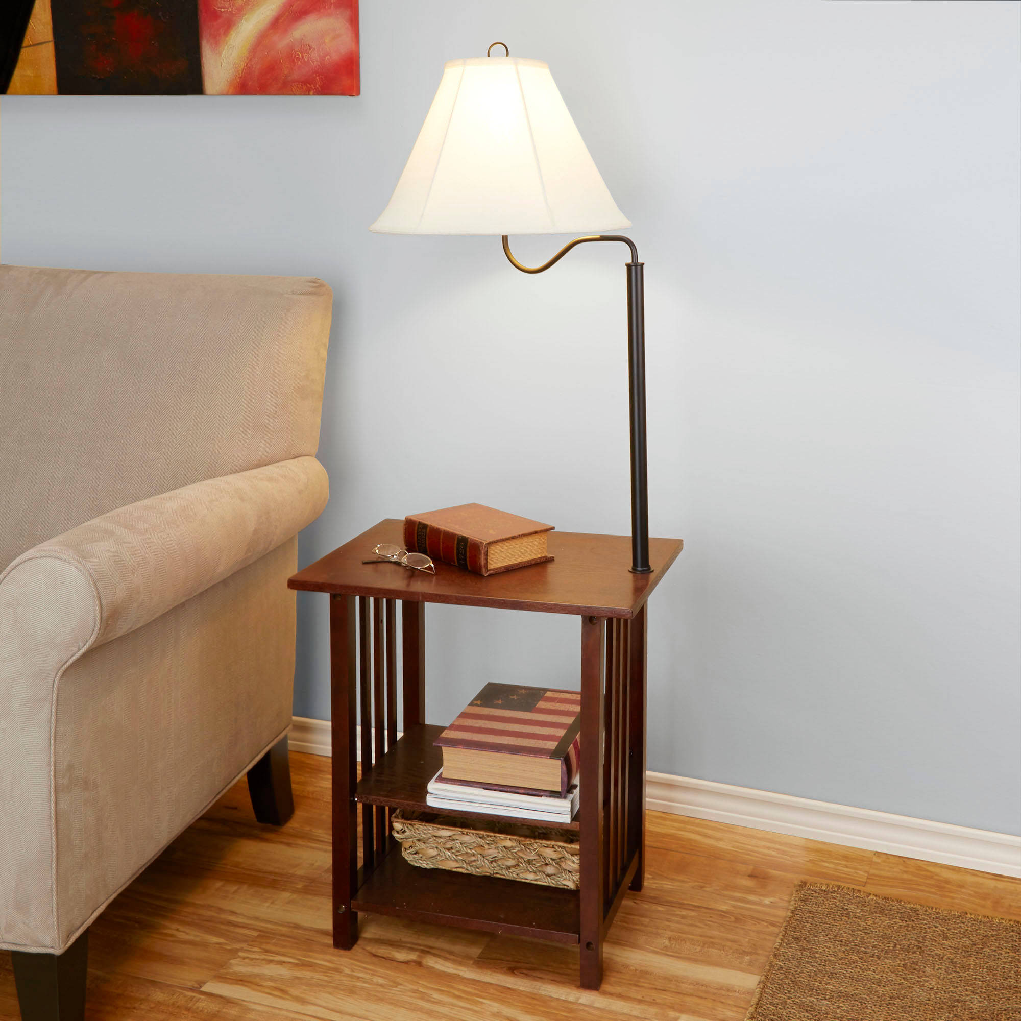 end table with built lamp signquantumcontinuum tables designs lamps mercury combo living room couch red round accent best for bedroom dog cage made wood odd shaped garage storage