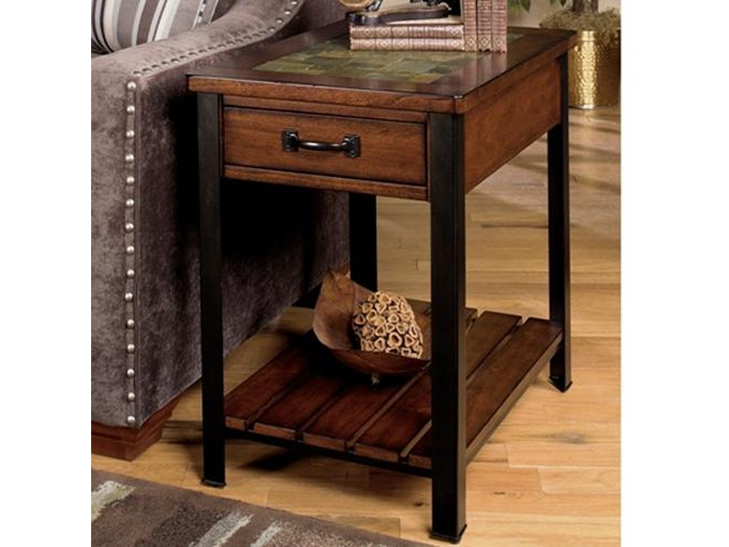 end table with drawer and shelf null furniture dunk bright products color tables ashley slate hampton bay patio cushions lucite gold coffee pottery barn abbott dining wayside