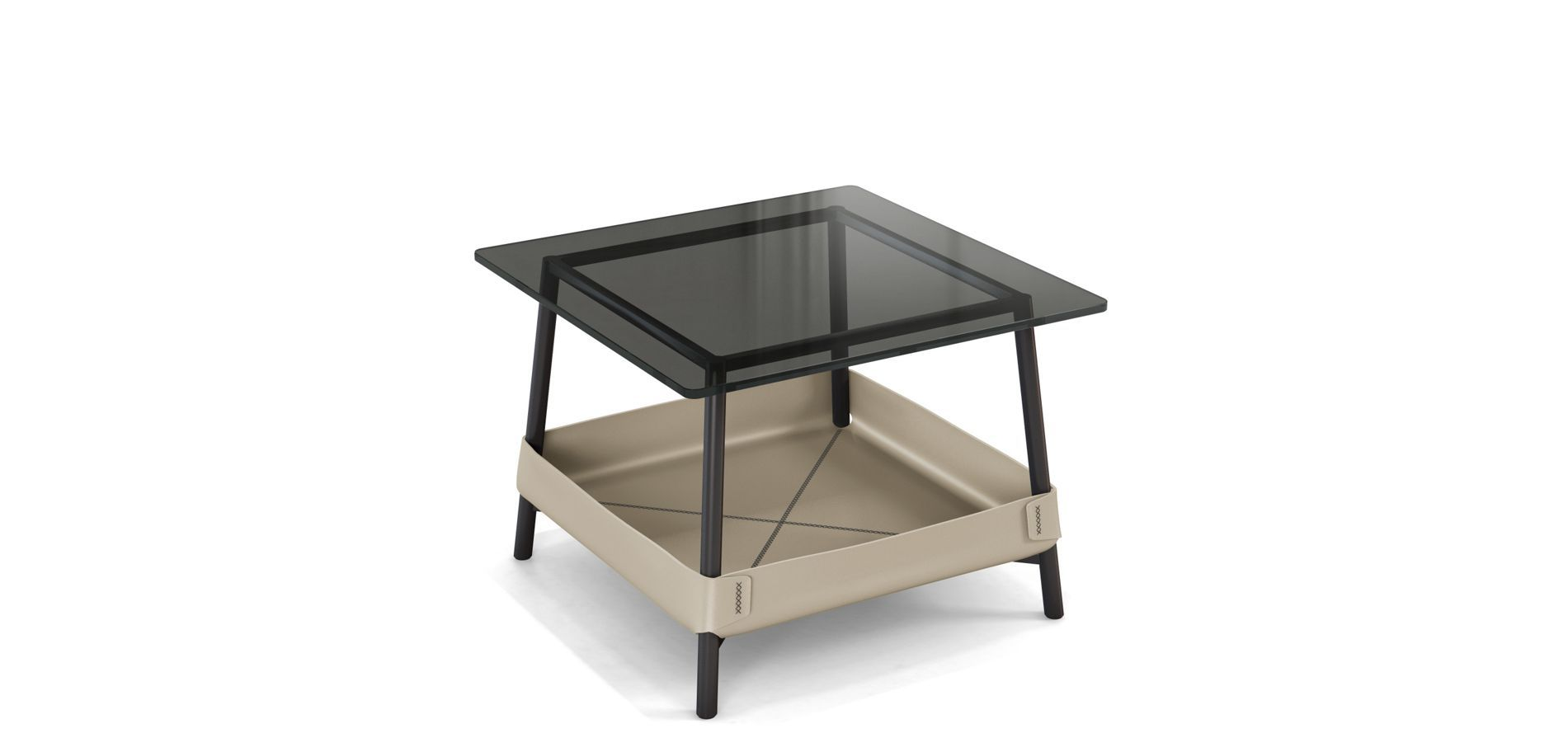 end table with top thick smoked glass steel tube legs tables black lacquer finish lower basket split leather many colours available large white crate luxury dining design sofa