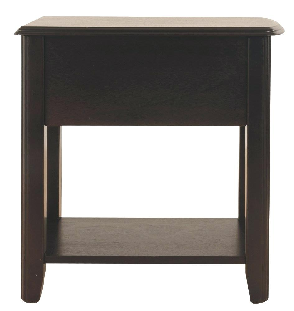 end tables chairside table furniture with usb program chair side charging station small black metal garden home hardware patio leick sofa laura ashley dressing the brick dining