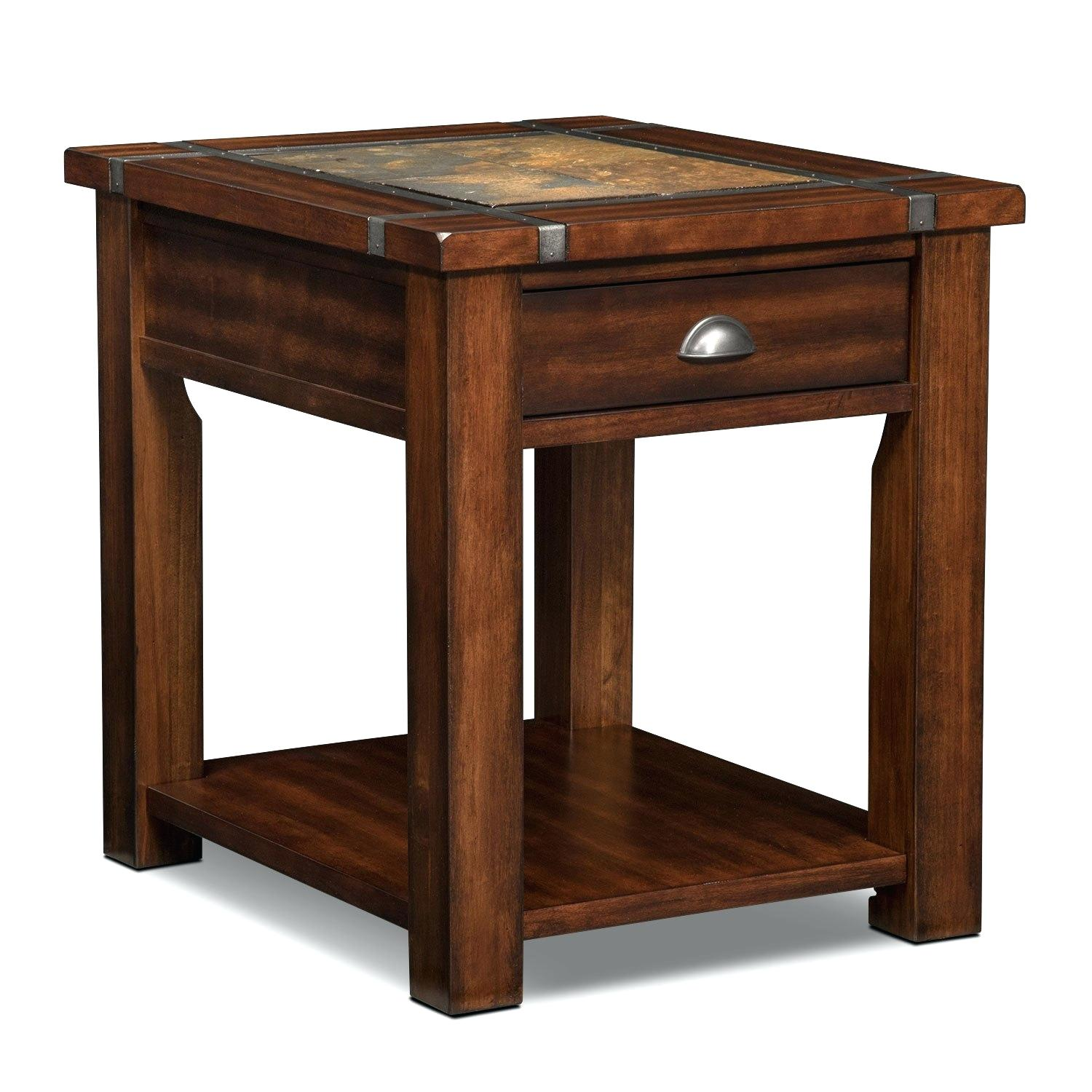 end tables cherry table tablets wood pub slate ridge value city furniture and mattresses accent occasional oak chairs coffee frosted glass luggage living room colors with brown