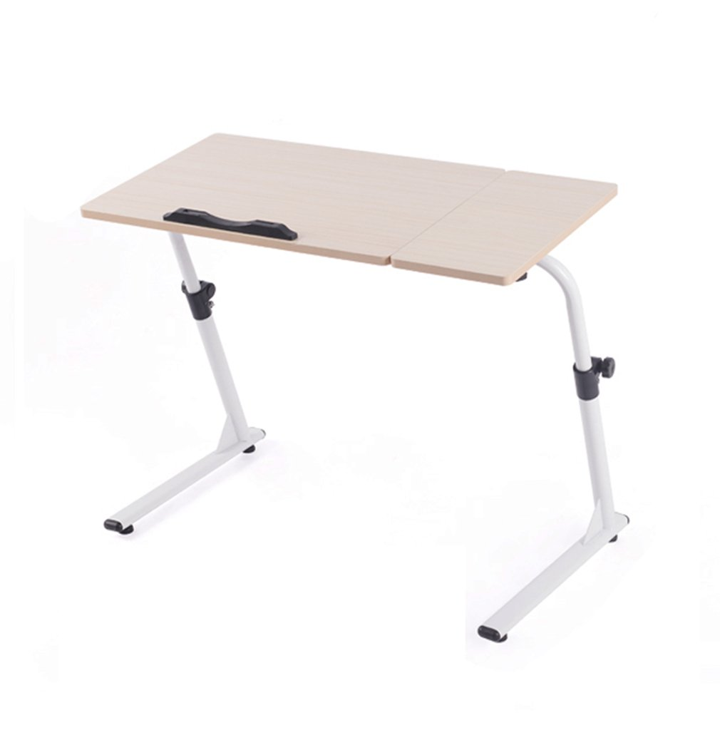 end tables computer desk simple bedside laptop table folding lazy with sofa learning lifting freely turning heart color white low nightstand elegant coffee and light floor lamp