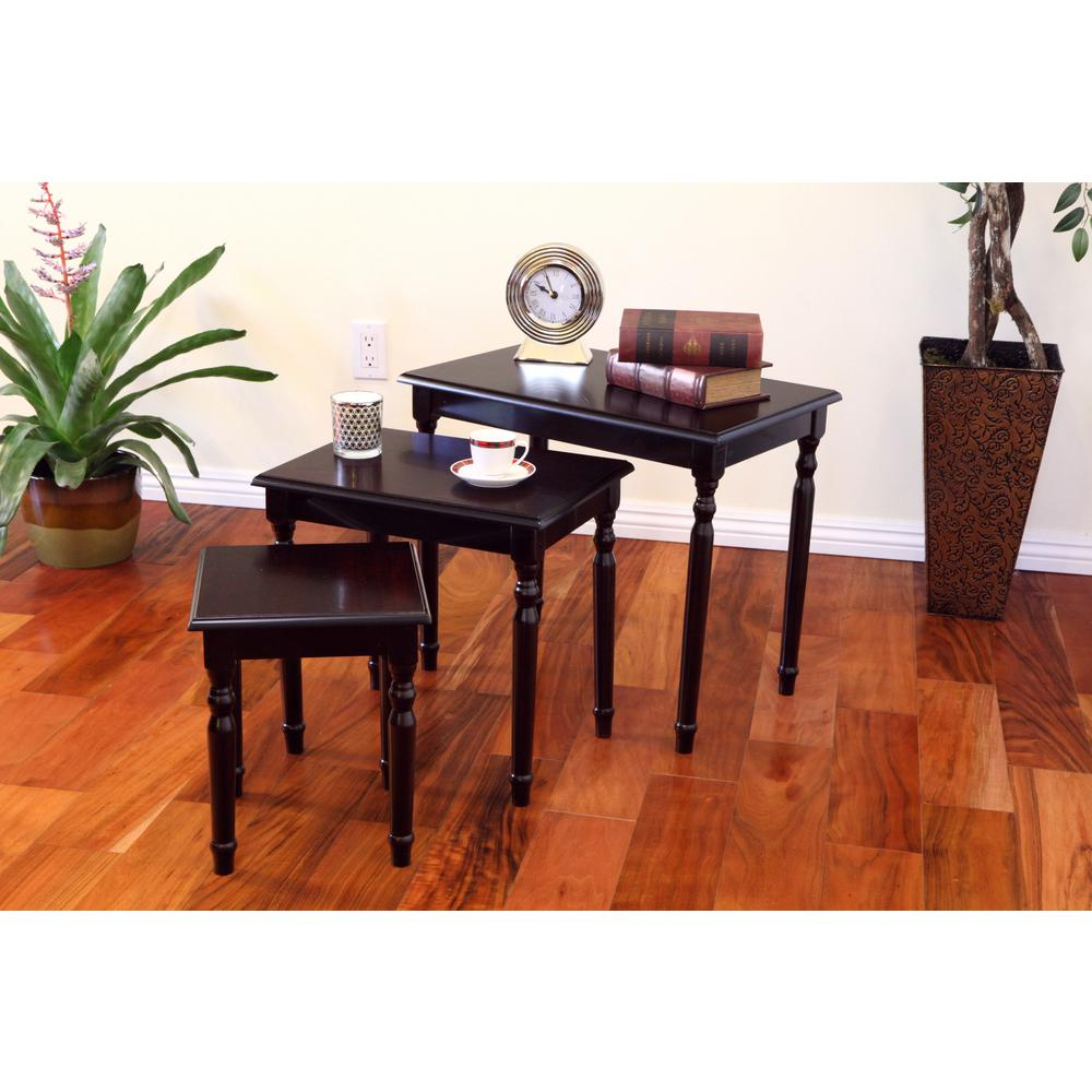 espresso piece nesting end table set wood sofa coffee living room dark cherry frenchi home furnishing tables furniturenew hand painted glasses drawer night black side lamps west