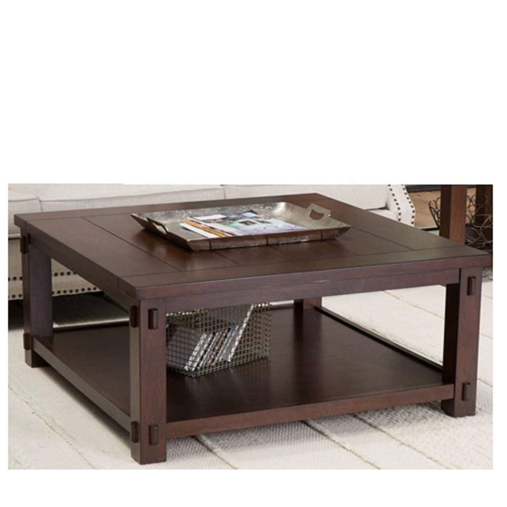 espresso square coffee table find larkin end tables get quotations wood finish top vintage style antique svitlife with glass laura ashley catalogue used night dining set small mid