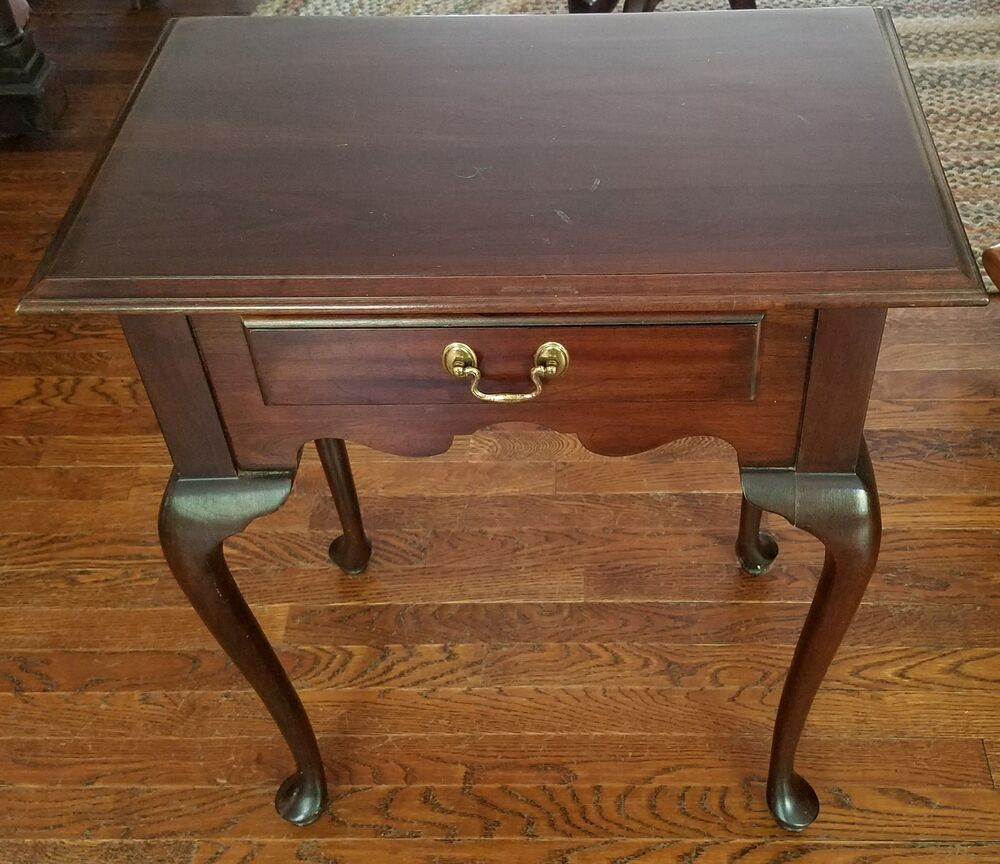 ethan allen court cherry end table with one drawer tables details about outdoor furniture fire laura ashley bedside house oak and sofas distressed leather magnussen company